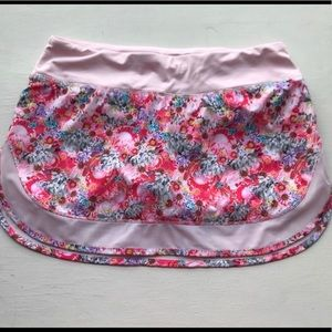 Lululemon Pink Flowabunga Hotty Hot Skirt